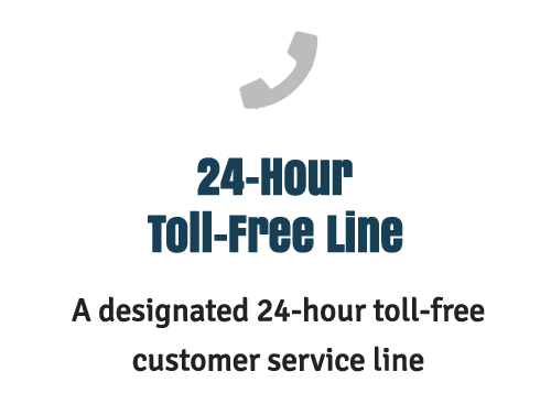 24 hour toll free line