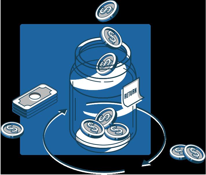 turnkey buzzword returns money jar
